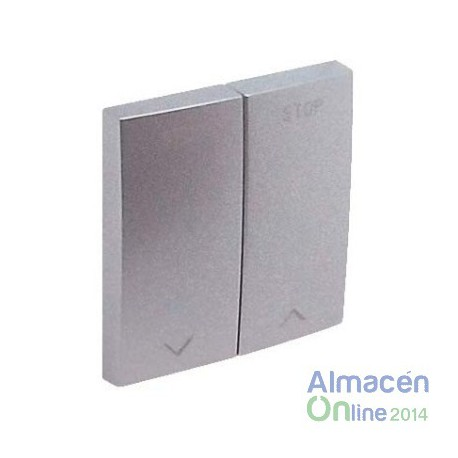 Tapa interruptor persianas Efapel 90613 T AL Logus 90 aluminio
