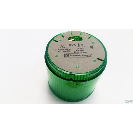 Telemecanique XVA-C33 Beacon Green Light 230V, VERDE